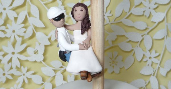 Lineman Wedding Cake Topper With Electric By