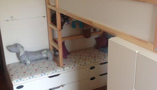 kurabed ans stolmen bank kids stuff pinterest kura bed beds and ikea bunk bed. Black Bedroom Furniture Sets. Home Design Ideas
