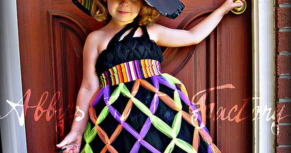 Bewitching Costume- criss cross witch tutu dress - This is a super
