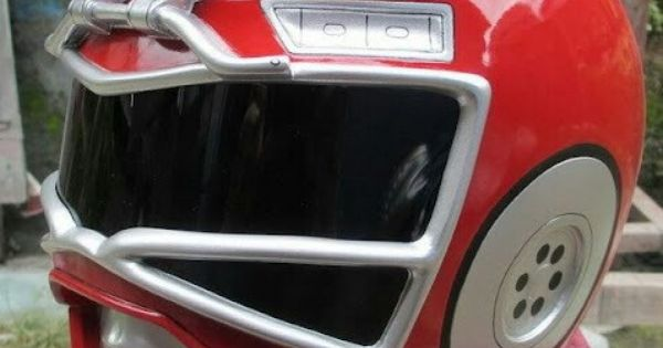 Red Turbo Ranger Helmet Red Turbo Ranger helme...