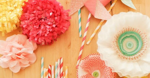 pretty party decor {stevie pattyn for shop sweet lulu} Here's our paper