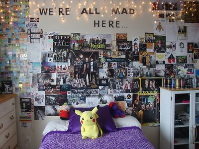 find this pin and more on room ideas - Emo Bedroom Designs