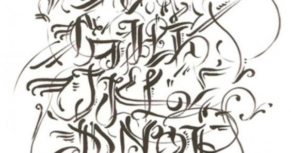 Graffiti alphabet, Lettering styles and Calligraphy on Pinterest
