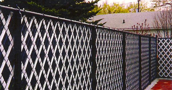 Color System Chain Link Fence With Aluminum Privacy Slats Installed By Liberty Fence Railing Available Chain Link Fence Fence Fabric Black Chain Link Fence