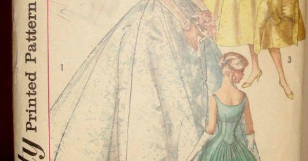 patron robe mariee annees 50  Robes de mariage  Pinterest