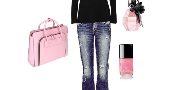 Casual - Black & Pink....love this look!