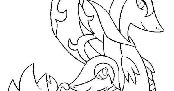 Starter pokemon coloring pages snivy the pokemon to for Snivy coloring pages