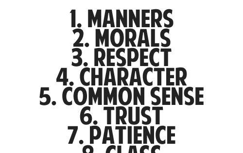 Applying common sense morality to life