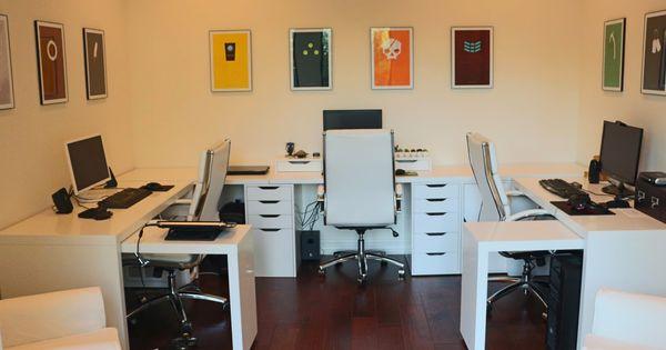 White ikea malm desk computer game prints ikea table bar for Bureau gamer ikea