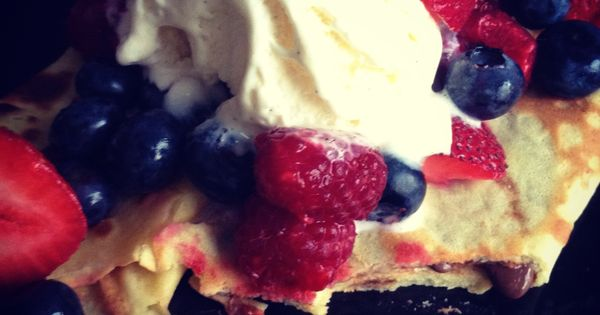 ... White and Blue Crepes | Good Eats | Pinterest | Crepes, Red and Blue