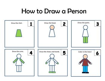 How To Draw A Person Dog Pig Cat Person Drawing Shapes For Kids Kindergarten Art Lessons