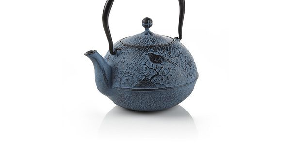 Blue maromi bird cast iron teapot at teavana teavana - Teavana tea pots ...