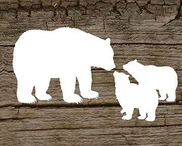 Mama Bear With 2 Baby Cubs Digital Printable By Elevateddesignshop 5 00 Bear Stencil Baby Bear Tattoo Bear Silhouette