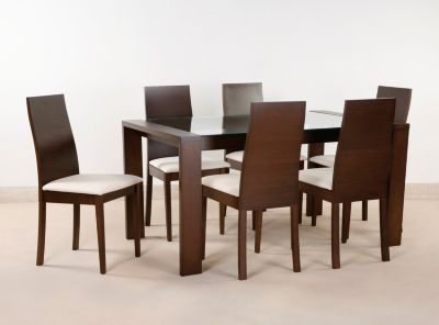 Juego de Comedor NEW STARTER6 , para 6 personas, hecho de madera ...