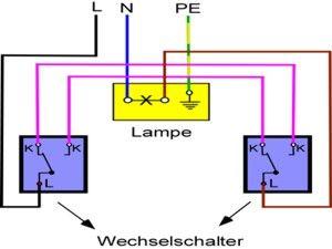 Anleitung Aus Wechselschalter Anschliessen Schalter Elektroinstallation Elektroinstallation Selber Machen