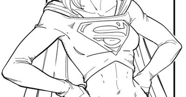 supergirl coloring pages free printable coloring pages