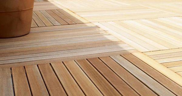 Dalle en bois exotique 100 x 100 cm prix promo castorama ttc bons p - Dalle terrasse bois pas cher ...