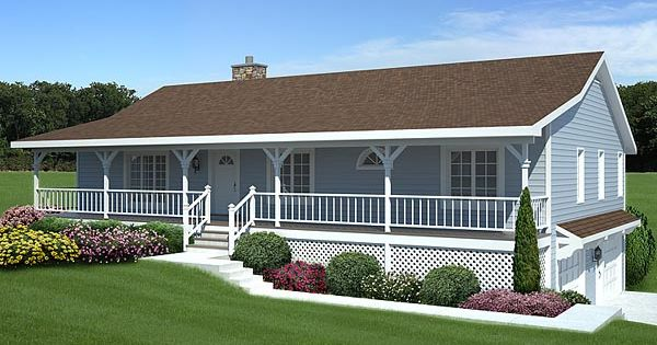 Raised ranch with off center entry and shed roof porch for Raising roof on ranch house