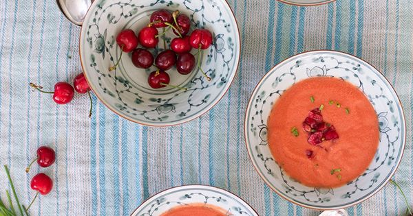 Ideas ricas para cocinar con frutas gazpacho de cerezas for Ariadne artiles comida