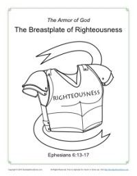 Breastplate Of Righteousness Coloring Page Armor Of God Armor