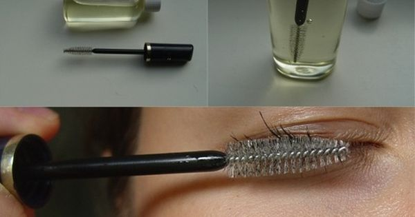 I'll try this! What you need, wash an old mascara or nail