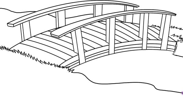 japanese garden coloring page