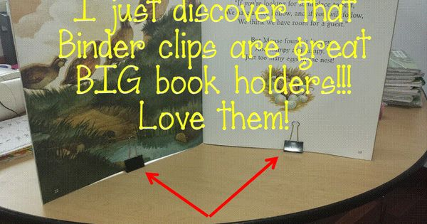 Big book holder!! cheap and easy!! | for the classroom