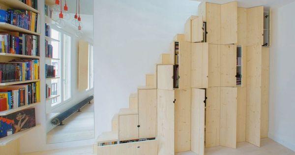 Escalier rangement mezzanine 4 astuces recopier pour gagner de la place dans - Escalier mezzanine rangement ...