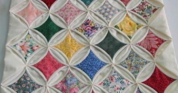 Knitted Quilt Block Patterns : cathedral quilt block pattern Easy Vintage Style Precut Cathedral Window Qu...