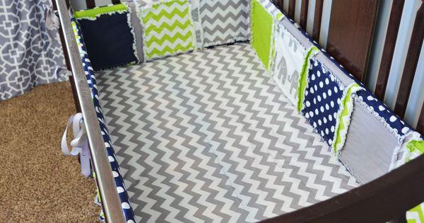 custom crib set gray elephant navy blue chevron grey