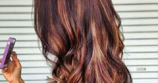 Deep Auburn With Chestnut Brown And Dark Honey Highlights