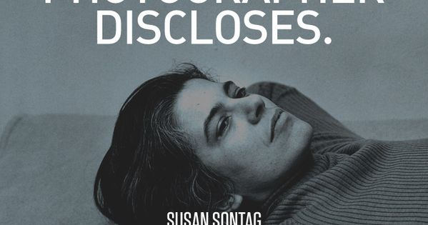 Susan sontag on photography thesis
