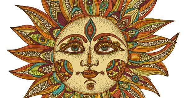 Love Art Summer Hippie Boho Indie Moon Sun Moon