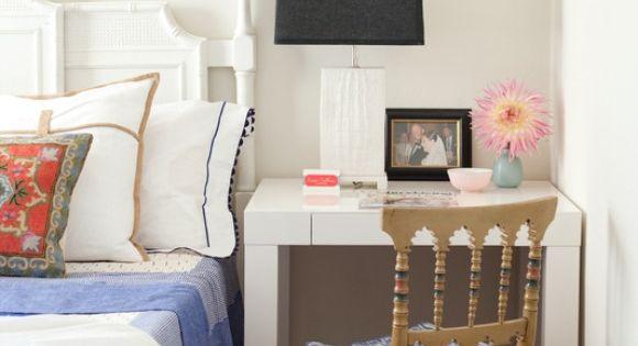 Small Space bedroom interior design ideas - night stand idea - good