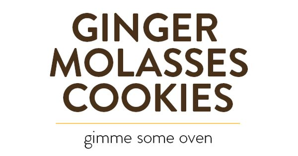 Salts, Ginger molasses cookies and Cookies on Pinterest