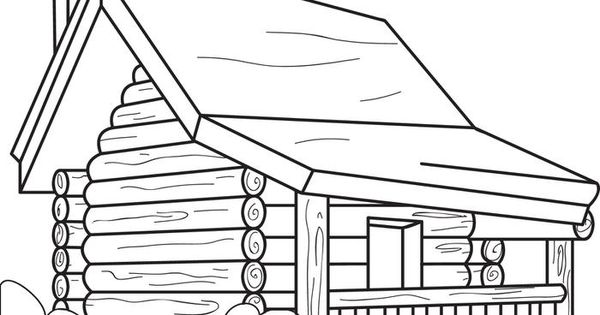 Log Cabin Coloring Page Log Cabins Cabin And Logs