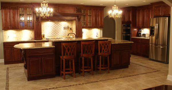 Tile design kitchen cabinets and kitchens on pinterest