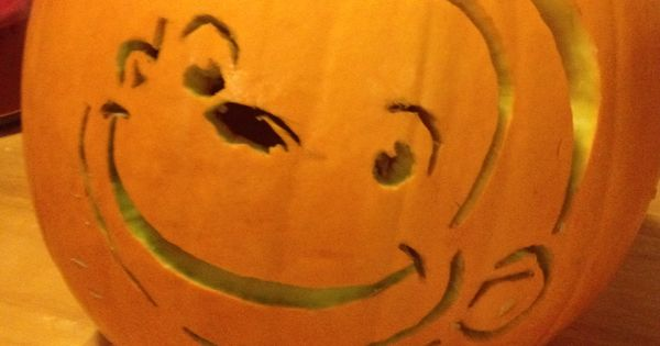 Curious george carved pumpkin template from pbs kids