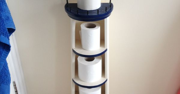 Lighthouse Toilet Paper Roll Holder What A Fun Idea Tried To Find Source No Success