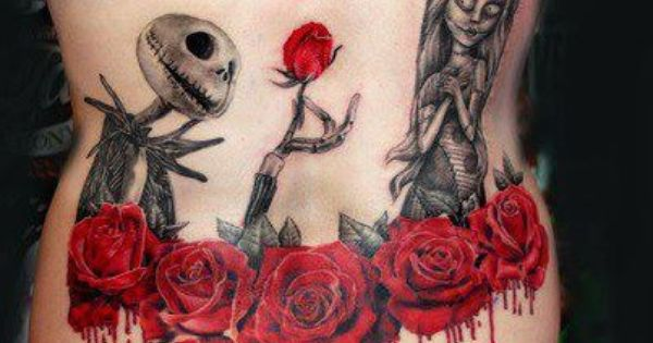 Jack and sally back tattoo