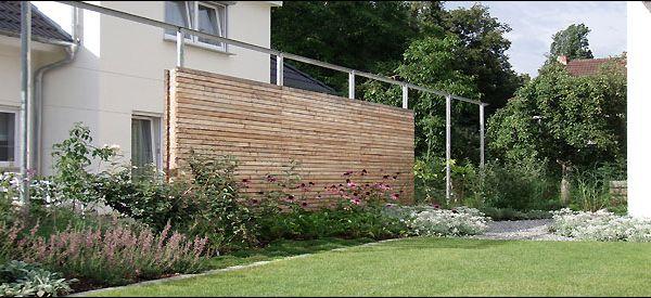 Trend Holz Sichtschutz Wand mit Stahl Pergola Haus Pinterest Pergola Sichtschutz und Stahl