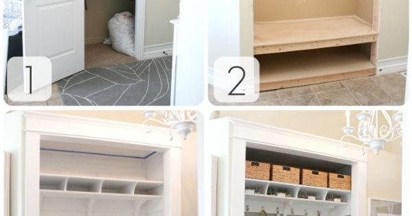 turn closet into a mud room! coat closet in entry way?