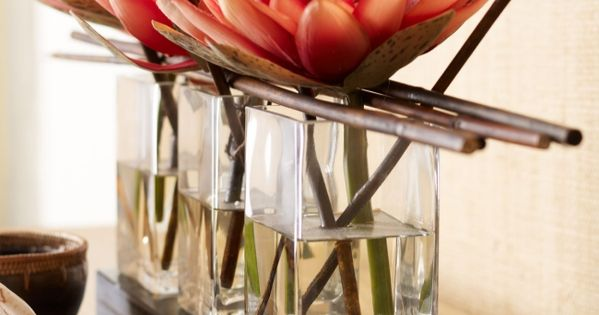 Lotosblume glasvasen japanischer stil pflanzen nach feng for Haus japanischer stil