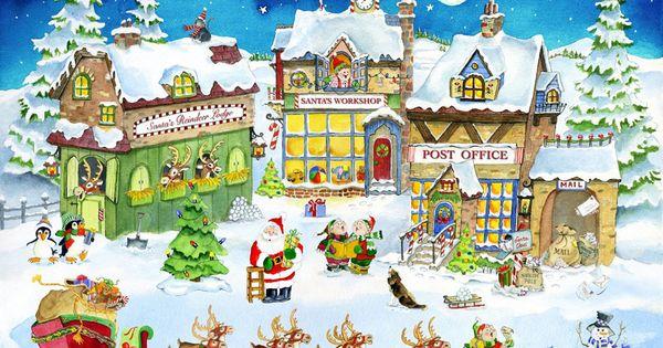 Santa's Village Clip Art | Santas Village Santa's village :: 300 piece ...