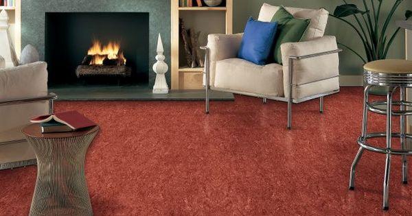 Armstrong Linoleum Flooring Marmorette Firebird Red