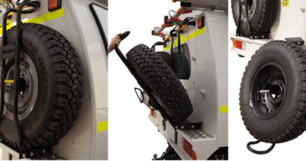 Folding Wheel Carrier By Bosston Auto Bodies Allows You To Safely