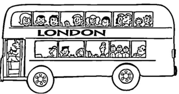 London Bus Coloring Page London City Tour London Bus London Theme