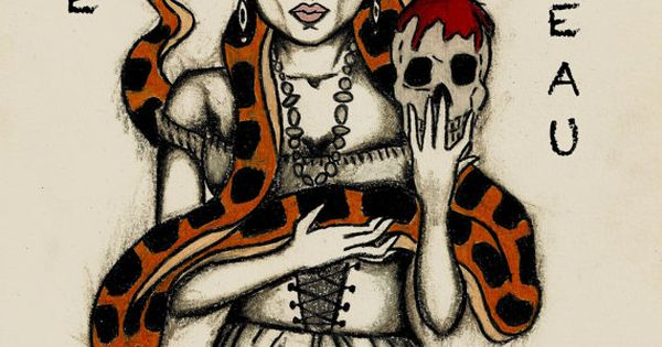 Marie laveau voodoo queen print birthday gift for Tattoo artists in new orleans