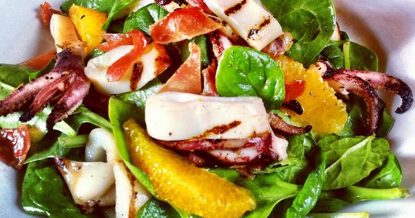 Grilled calamari, Calamari and Salads on Pinterest