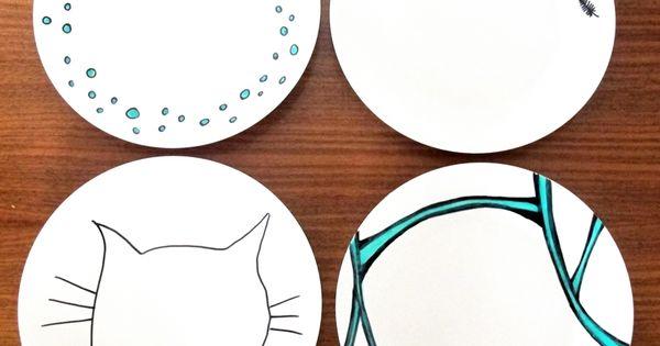 porzellan teller selbst bemalen diy upcycling recycling selbermachen crafting basteln. Black Bedroom Furniture Sets. Home Design Ideas